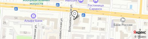 Почтовое отделение №5 на карте Саранска