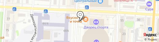 Платежный терминал, Волго-Вятский банк Сбербанка России на карте Саранска