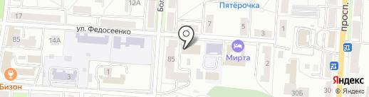 Отдел судебных приставов по Ленинскому району г. Саранска на карте Саранска