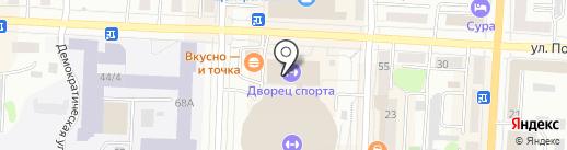 Ассоциация мини-футбола Республики Мордовия на карте Саранска