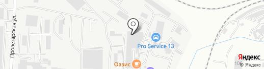 Автокомплекс на Строительной на карте Саранска