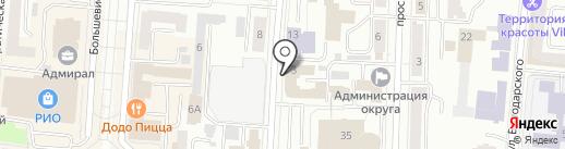 Мордовский таможенный пост на карте Саранска