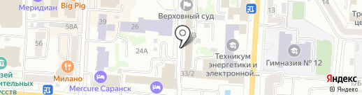 Инспекция государственного строительного надзора Республики Мордовия на карте Саранска