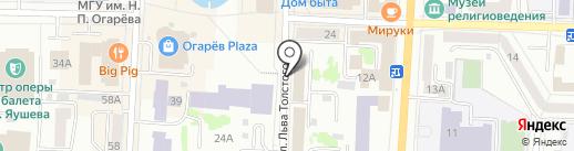 Управление Министерства Юстиции Российской Федерации по Республике Мордовия на карте Саранска