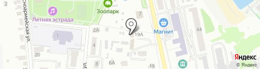 Зоопарк на карте Саранска