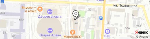 Дом-управления №23 на карте Саранска