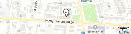 Республиканский военный комиссариат Республики Мордовия на карте Саранска