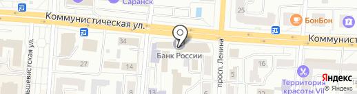 Национальный банк Республики Мордовия Центрального Банка РФ на карте Саранска