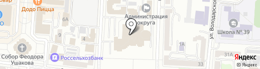 Министерство целевых программ Республики Мордовия на карте Саранска