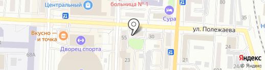 Елена на карте Саранска