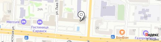 Банк Возрождение, ПАО на карте Саранска