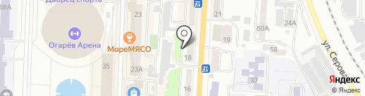 Масторава на карте Саранска