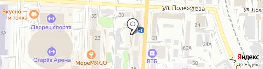 Каштан плюс на карте Саранска
