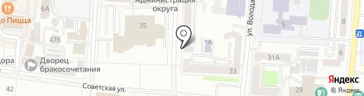 Мята на карте Саранска
