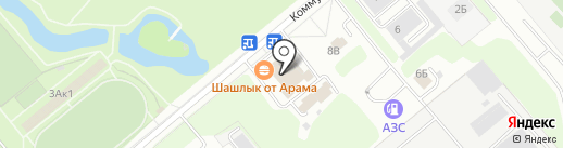 Банно-прачечный комбинат на карте Заречного