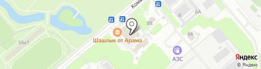 Банно-прачечный комбинат, МП на карте Заречного