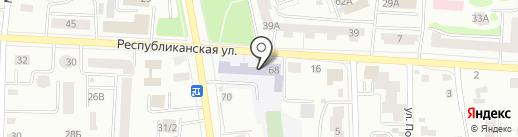 Средняя общеобразовательная школа №9 на карте Саранска