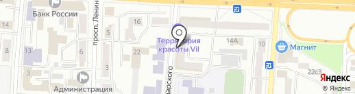 Российский Красный крест на карте Саранска
