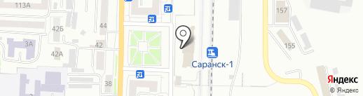 Железнодорожный вокзал на карте Саранска