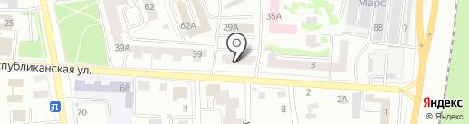 Кристалл на карте Саранска