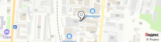 Деловой Саранск на карте Саранска