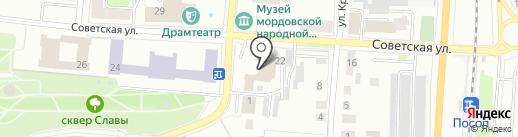 Якстерь тяштеня на карте Саранска
