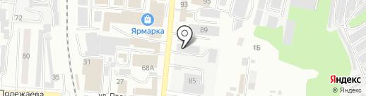 Автомойка на Рабочей на карте Саранска