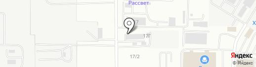 Неон-строй на карте Саранска