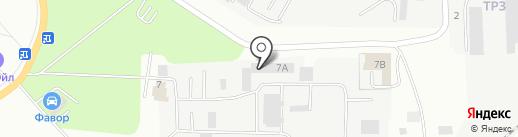 Фавор на карте Саранска