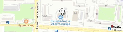 Агат-Инсара на карте Саранска