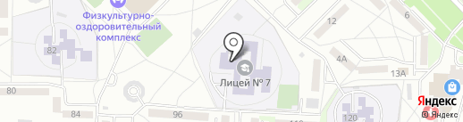 Лицей №7 на карте Саранска