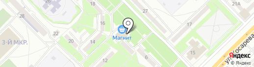 Мордовский дворик на карте Саранска