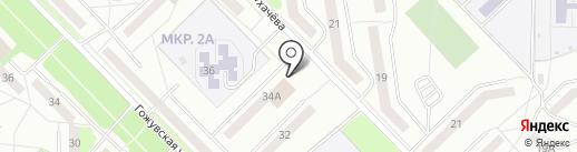 Магнит у дома на карте Саранска