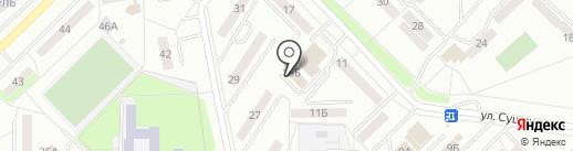 Русская баня на ул. Сущинского на карте Саранска