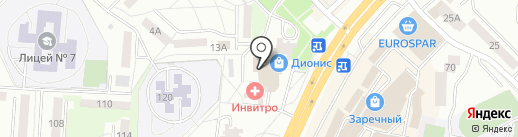 Магазин автозапчастей на ул. Косарева на карте Саранска