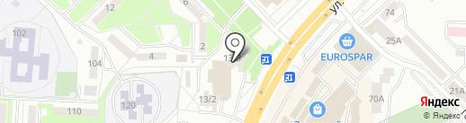Микротекк на карте Саранска