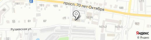 Жилищное ремонтно-строительное управление Октябрьского района г. Саранска на карте Саранска