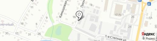 Пиния на карте Саратова