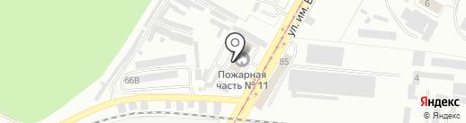 Пожарная часть №11 на карте Саратова