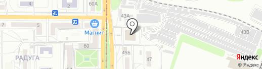 Радуга на карте Саратова