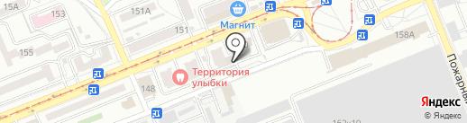 Компас на карте Саратова