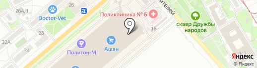 Магазин по продаже фруктов и овощей на карте Саратова