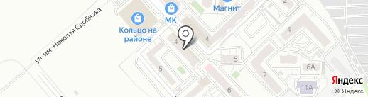 Гусли на карте Саратова