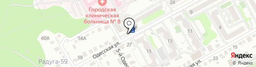 Припёкъ на карте Саратова