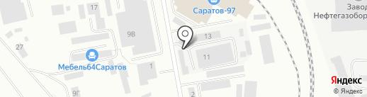 Нижегородский ТД Белшина на карте Саратова