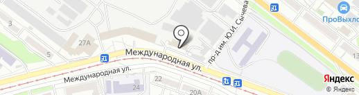 Индиго на карте Саратова
