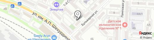 Пивной бульвар на карте Саратова