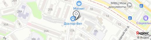 Модапес на карте Саратова