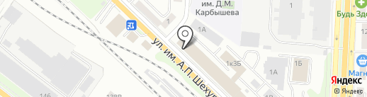 Адаптация с Бочкаревым на карте Саратова