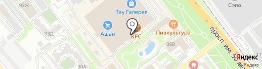 Портсигар на карте Саратова